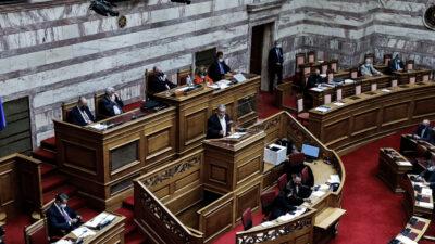 Ο Δημήτρης Κουτσούμπας στο βήμα της Βουλής - ΚΚΕ