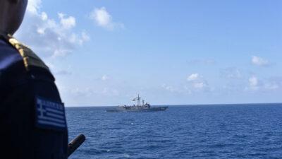 """Συνεκαπίδευση της Φ/Γ """"Ναβαρίνο"""" με μονάδες επιφανείας του Αιγυπτιακού Πολεμικού Ναυτικού"""