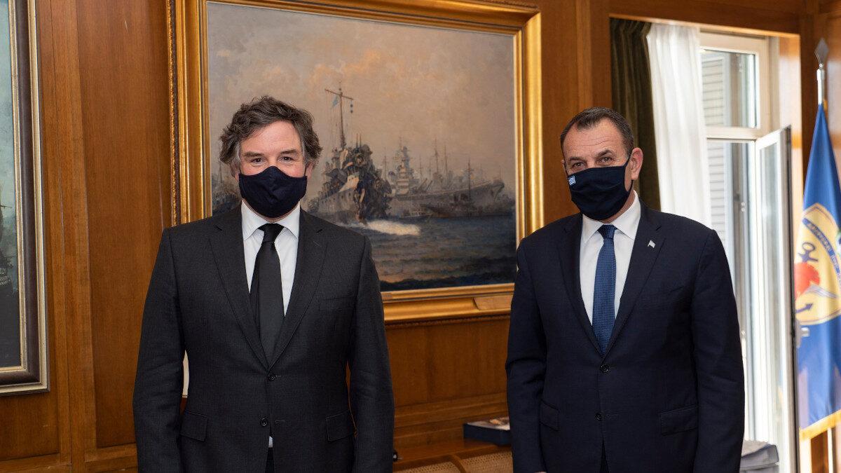 Συνάντηση Ν. Παναγιωτόπουλου με τον Βρετανό Υπουργό Αμυντικών Εξοπλισμών, Τζ. Κουίν