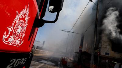 Πυροσβεστική - Φωτιά σε εγκαταλελειμμένο κτήριο