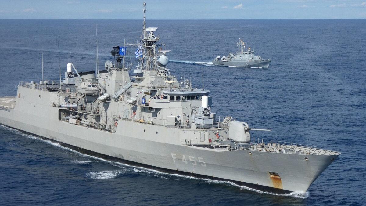 Η Φρεγάτα Σαλαμίς (F455) στην Κεντρική Μεσόγειο σε ρόλο ΝΑΤΟϊκού χωροφύλακα (Allied Maritime Command - Operation Sea Guardian) Απρίλιος 2021