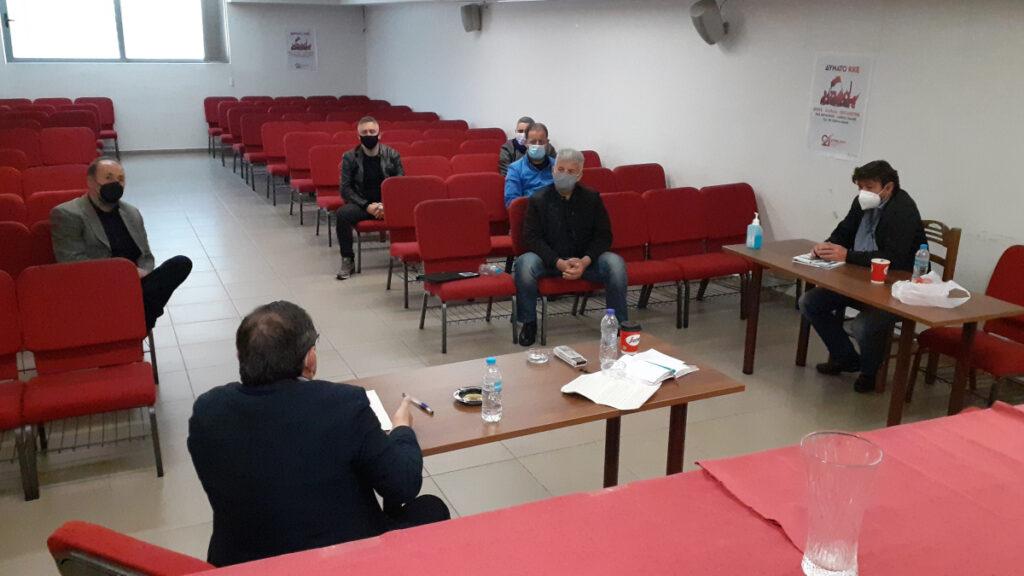 Συνάντηση του ΚΚΕ με την ΕΠΛΣ Λιμενοφυλάκων Κεντροδυτικής Ελλάδας στην Πάτρα στις 9/4/2021