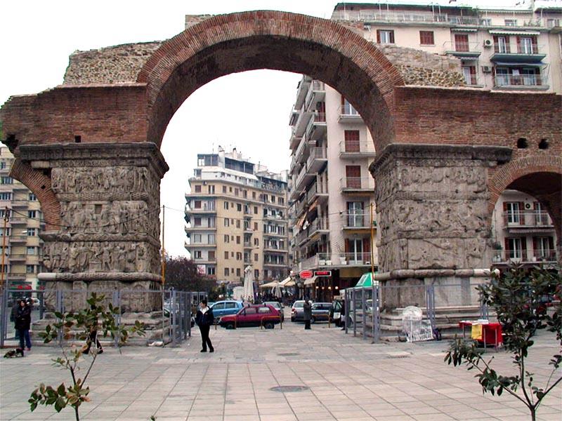 Αρχαία Ρώμη - Γαλέριος - Θεσσαλονίκη - Θριαμβική Αψίδα του Γαλερίου (Καμάρα)