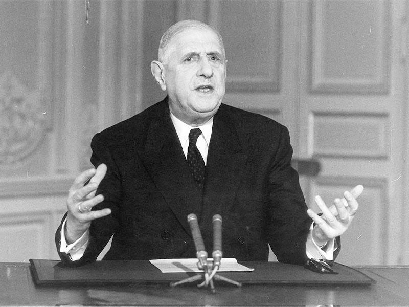 Γαλλία -Μάης 1968 - Σαρλ Ντε Γκωλ