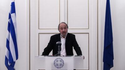 Δήλωση του Γιώργου Μαρίνου μετά την ενημέρωση των εκπροσώπων των κοινοβουλευτικών κομμάτων από τον Υπουργό Εξωτερικών Νίκο Δένδια για τα τρέχοντα ζητήματα εξωτερικής πολιτικής, την Τρίτη 11 Μαΐου / Πηγή: Eurokinissi