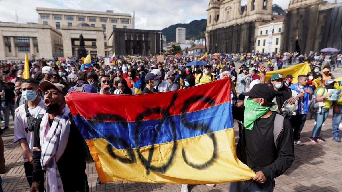 Διαδήλωση την Κολομβία