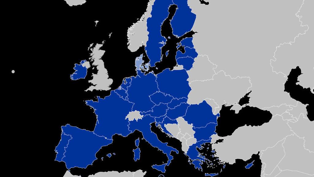 Χάρτης που απεικονίζει τα κράτη μέλη της Μόνιμης Διαρθρωμένης Συνεργασίας (PESCO)