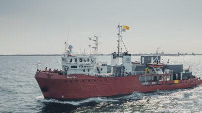 Ναυαγοσωστικό πλοίο Sea-Eye 4 - εκτελεί επιχειρήσεις έρευνας και διάσωσης στη Μεσόγειο