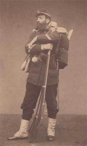 Γάλλος στρατιώτης το 1870 -71 / Φέρει τουφέκι chassepot
