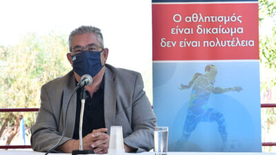 Περιοδεία του Δημήτρη Κουτσούμπα στις αθλητικές εγκαταστάσεις του Άγιου Κοσμά
