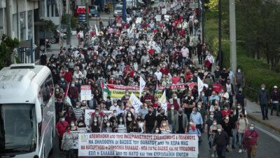Αντι-ιμπεριαλιστική πορεία της ΕΕΔΥΕ σε Πρεσβεία ΗΠΑ και Ισραήλ στην Αθήνα - Αλληλεγγύη στον Παλαιστινιακό λαό - 16/5/2021