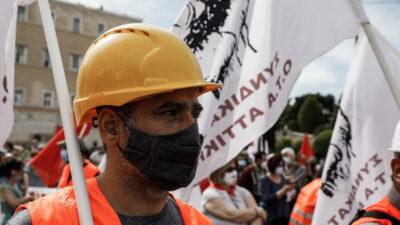 Εργαζόμενος στην Εργατική Πρωτομαγιά στο Σύνταγμα