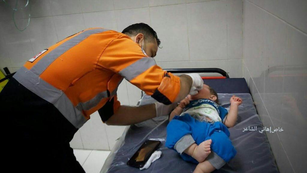 Παλαιστίνη: Βρέφος τραυματισμένο από τις επιθέσεις του Ισραήλ στη Λωρίδα της Γάζας