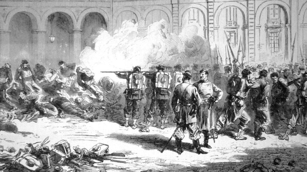 Κομμούνα του Παρισιού / Εκτέλεση Κομμουνάρων / Γκραβούρα του Frederic Lix
