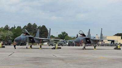 Αμερικανικά F-15 στην 110 Πτέρυγα Μάχης