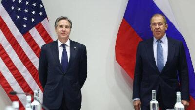 Οι Υπουργοί Εξωτερικών ΗΠΑ και Ρωσίας, Άντονι Μπλίνκεν και Σεργκέι Λαβρόφ στο Ρέικιαβικ (Ισλανδία) 19/5/2021