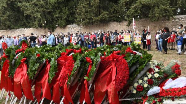 Εργατική Πρωτομαγιά: Καταθέσεις στεφάνων από τις Οργανώσεις του ΚΚΕ σε όλη τη χώρα