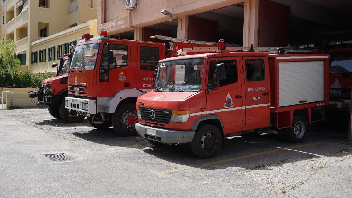 1ος Πυροσβεστικός Σταθμός Κέρκυρας - παλιό κτίριο - Μάης 2021