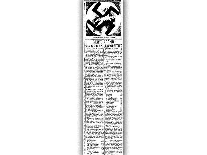 Ελλάδα - κράτος - αστική τρομοκρατία, 1934 - Ριζοσπάστης