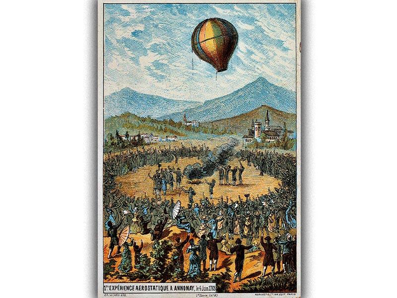 Εφευρέσεις - Αδελφοί Μονγκολφιέ - αερόστατο