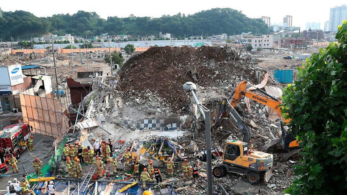 Κατάρρευση κτιρίου στη Νότια Κορέα
