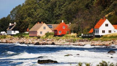 Χαρακτηριστικές κατοικίες στο νησί Bornholm της Δανίας