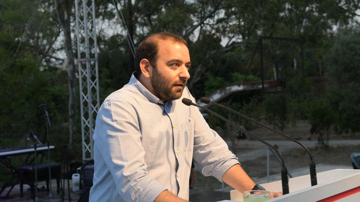 Ο Νίκος Αμπατιέλος, Γραμματέας του ΚΣ της ΚΝΕ