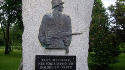 Εσθονία, Μνημείο για τους Εσθονούς ΝΑΖΙ