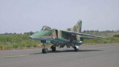 Βομβαρδιστικό πολλαπλού ρόλου MIG-23 της Πολεμικής Αεροπορίας της Αιθιοπίας
