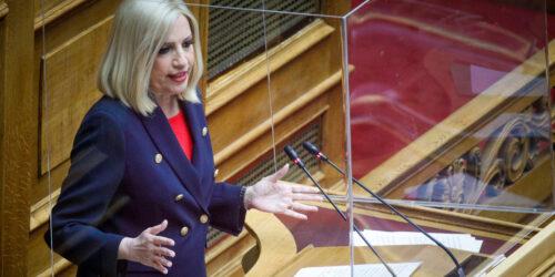 Η Φ. Γεννηματά στη συζήτηση στη Βουλή του αντεργατικού νομοσχεδίου Χατζηδάκη