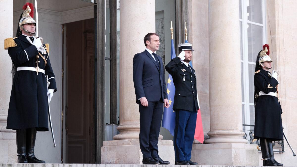 Ο Πρόεδρος της Γαλλικής Δημοκρατίας, Εμάνουελ Μακρόν, την Τετάρτη 29 Ιανουαρίου 2020, στο Παρίσι