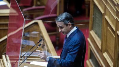Ο Κ. Μητσοτάκης στη συζήτηση στη Βουλή του αντεργατικού νομοσχεδίου Χατζηδάκη