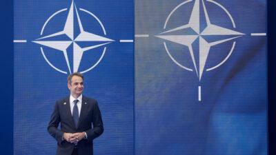 Ο Πρωθυπουργός Κυριάκος Μητσοτάκης στην Σύνοδο Κορυφής του ΝΑΤΟ στις Βρυξέλλες, Δευτέρα 14 ιουνίου 2021 (Γ.Τ ΠΡΩΘΥΠΟΥΡΓΟΥ/ ΔΗΜΗΤΡΗΣ ΠΑΠΑΜΗΤΣΟΣ)