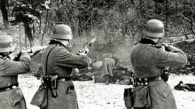 Στις 6 Ιουνίου 1944, στο στρατόπεδο «Παύλου Μελά» συντελέστηκε ένα ακόμη από τα από τα πολλά εγκλήματα των Γερμανών ναζί στην Ελλάδα: Εκτέλεσαν 104 Έλληνες κρατούμενους ομήρους, από διάφορες περιοχές.