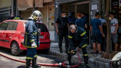 Πυροσβεστική - Πυρκαγια σε διαμέρισμα στην περιοχή του Γκύζη, όπου εντοπίστηκε νεκρός άνδρας 60 ετών σε ένα από τα δωμάτια του διαμερίσματος, Τετάρτη 9 Ιουνίου 2021