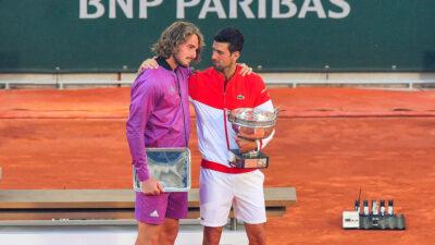 Τσιτσιπάς και Τζόκοβιτς στον 1ο τελικό σε Grand Slam για Έλληνα τενίστα