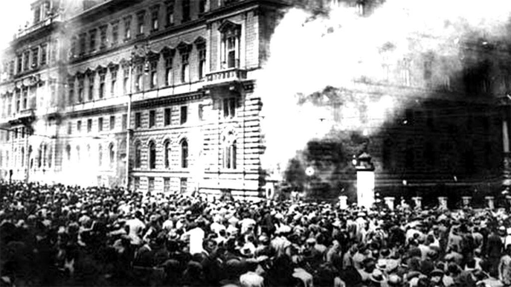 Εργατικό κίνημα - Αυστρία - Βιέννη - εργατικές διαδηλώσεις, 1927