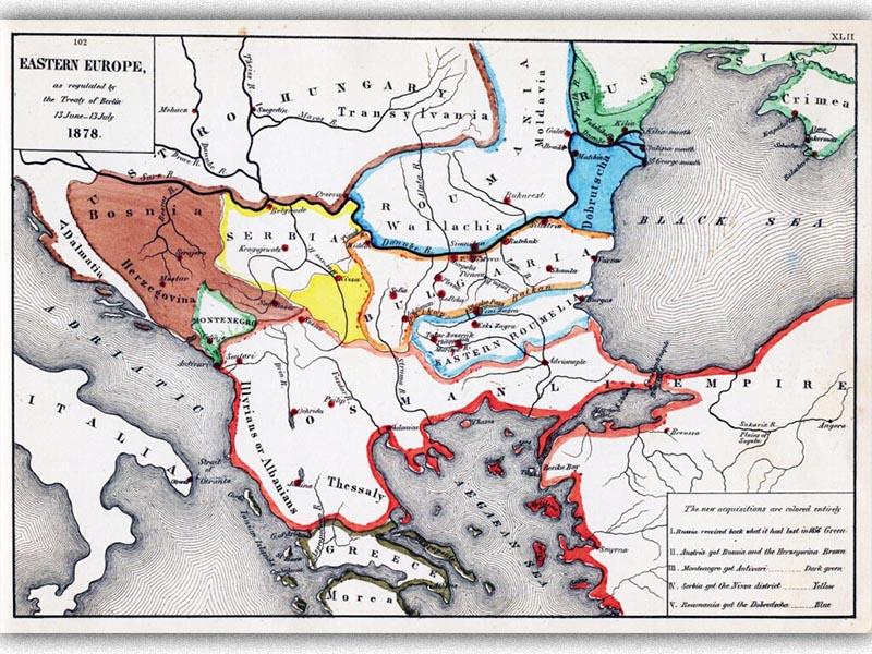 Βαλκάνια - Επαναχάραξη συνόρων - Συνθήκη του Βερολίνου, 1878