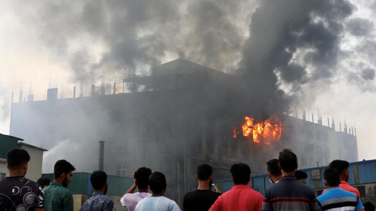 Πυρκαγιά σε εργοστάσιο στο Μπανγκλαντές