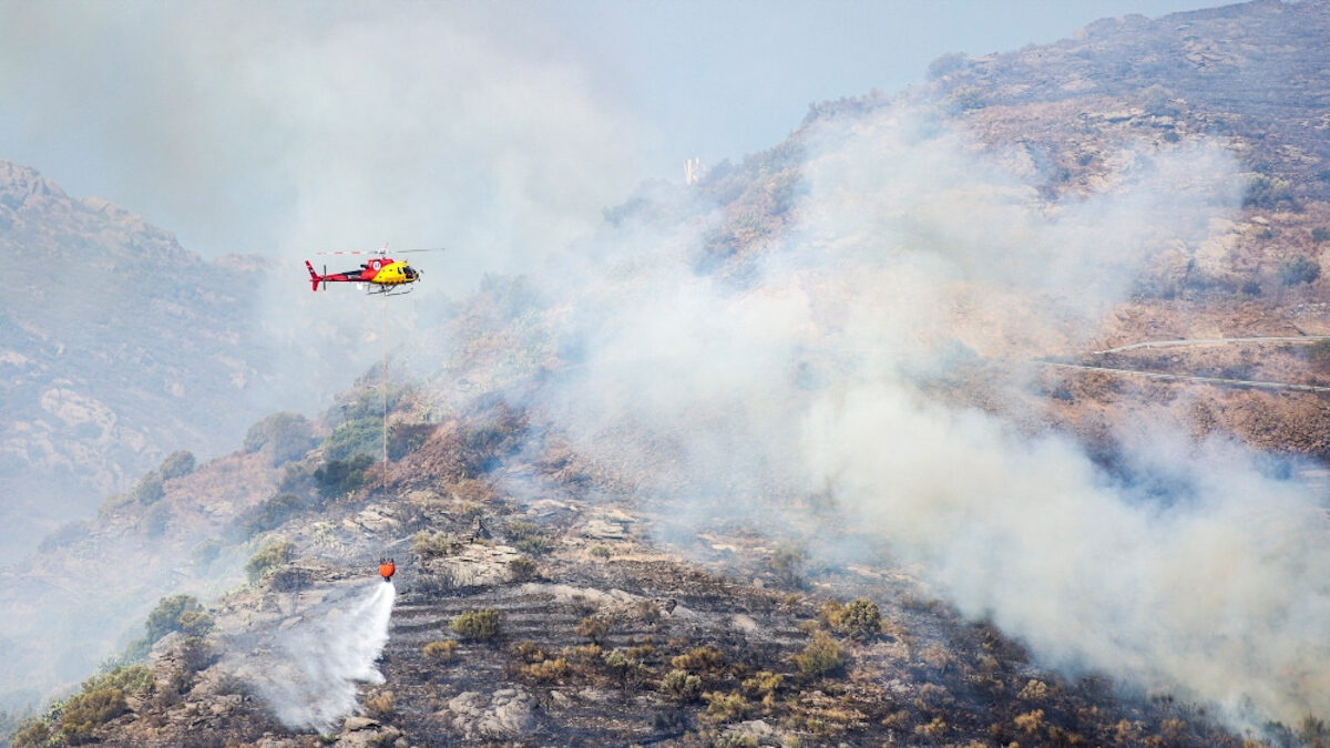 Μεγάλη δασική πυρκαγιά σε φυσικό πάρκο της Καταλονίας
