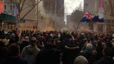 Διαδηλώσεις στην Αυστραλία ενάντια σε περιοριστικά μέτρα για τον κορονοϊό