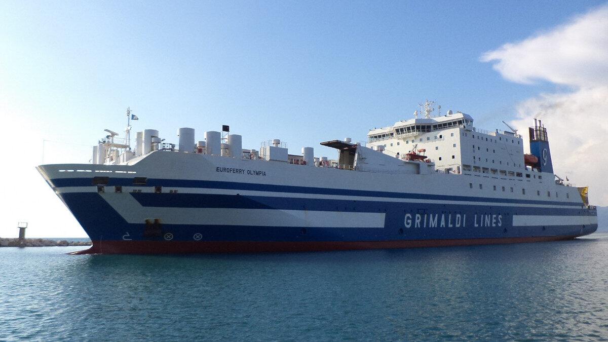 Το οχηματαγωγό πλοίο (Ro-Ro) Euroferry Olympia της Grimaldi Lines