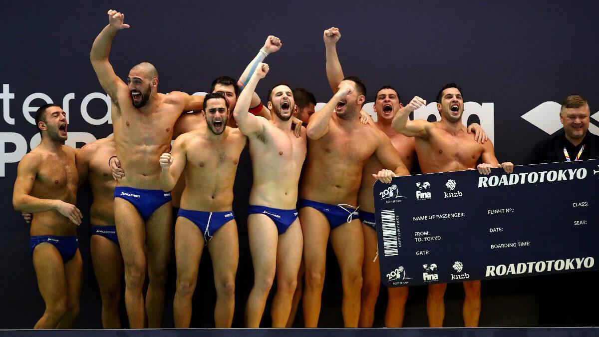 Η ομάδα της Εθνικής Ελλάδας στο Πόλο στην πρόκριση για τους Ολυμπιακούς Αγώνες ΤΟΚΙΟ 2020