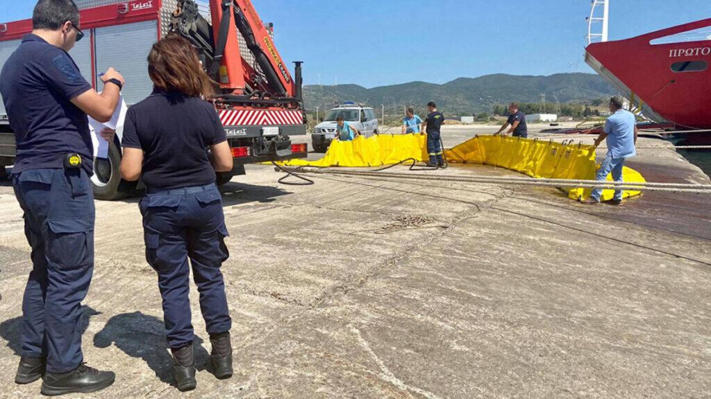 Άσκηση Αντιρύπανσης στο Αντίρριο από Δημοτικό Λιμενικό Ταμείο Ναυπακτίας με τη συνδρομή του Λιμενικού Σώματος και της Πυροσβεστικής Υπηρεσίας / Ιούλιος 2021