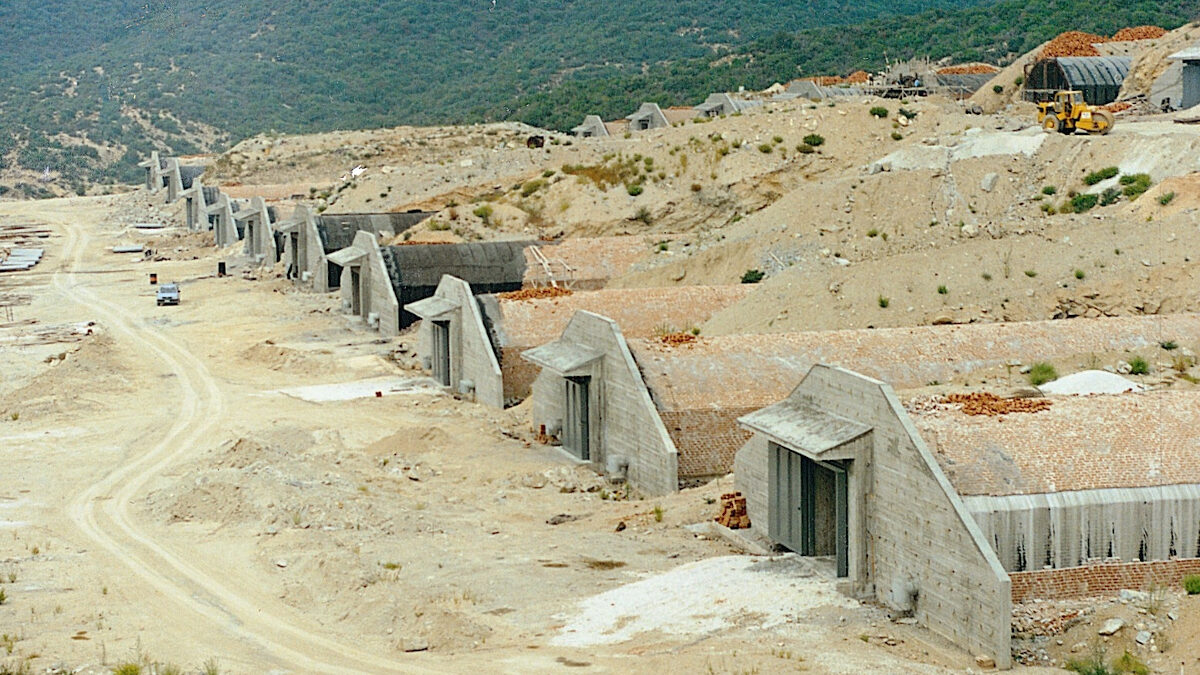 Ανέγερση εγκαταστάσεων αποθήκευσης πυρομαχικών των Ενόπλων Δυνάμεων στο Κιλκίς - 1993
