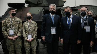 """Τζ. Πάιατ και Ν. Παναγιωτόπουλος στα εγκαίνια της Διεθνούς Έκθεσης Άμυνας και Ασφαλείας """"DEFEA 2021"""""""