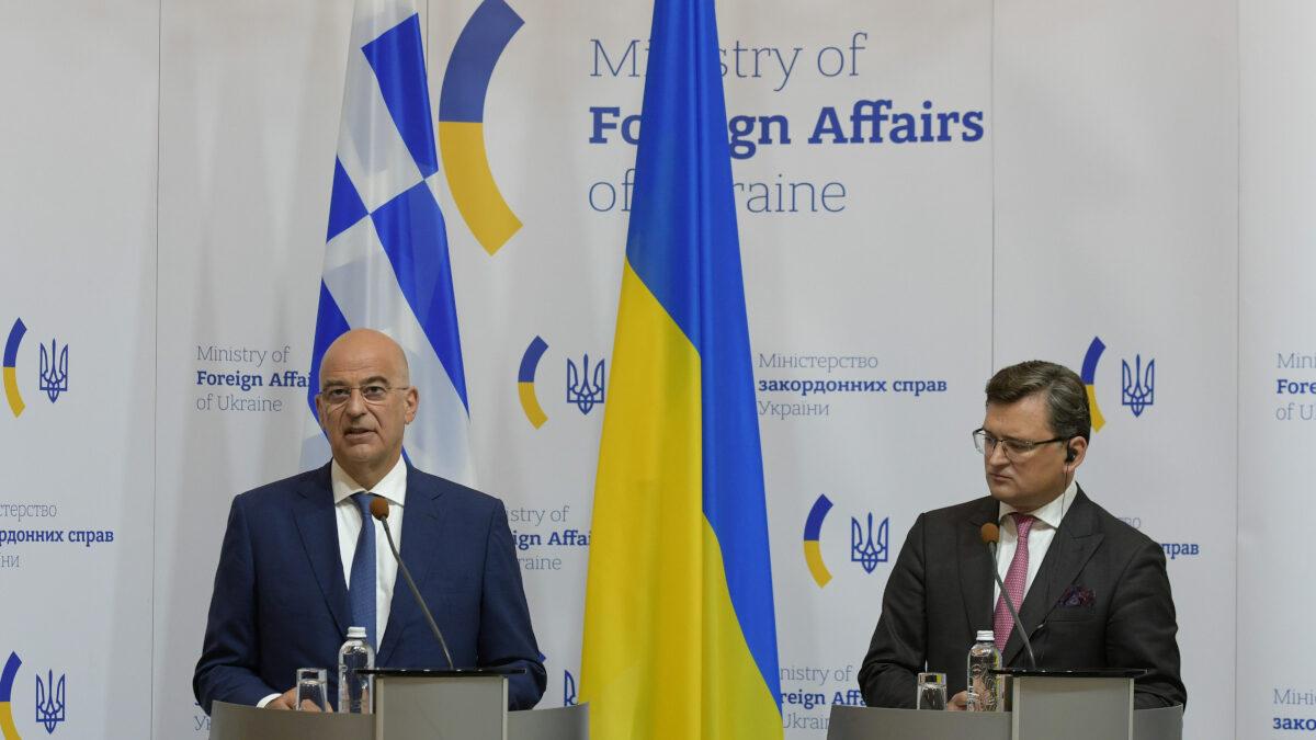Ο Υπουργός Εξωτερικών Νίκος Δένδιας στην Ουκρανία