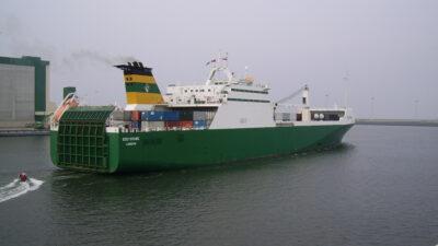 Το Φορτηγό (RO-RO) πλοίο που είναι ναυλωμένο από τον Στρατό των ΗΠΑ για να μεταφέρει μεταξύ άλλων πολεμικό υλικό και στην Αλεξανδρούπολη