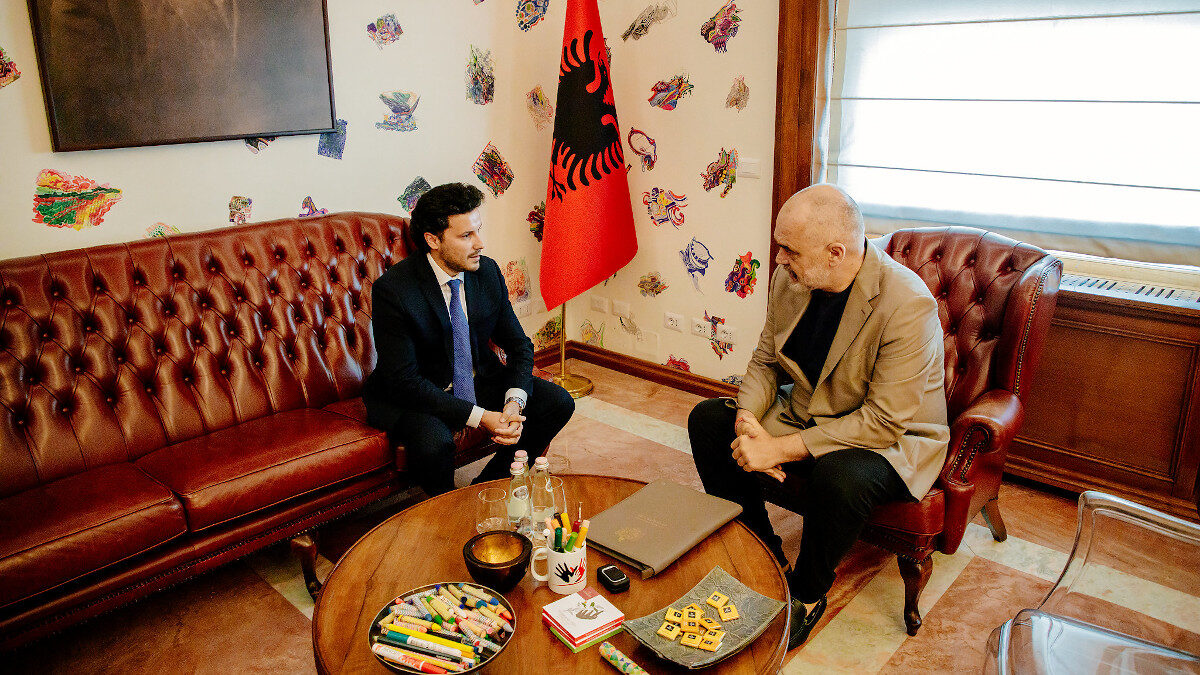 Συνάντηση Πρωθυπουργού της Αλβανίας Edi Rama με τον αναπληρωτή Πρωθυπουργό του Μαυροβουνίου, Dritan Abazović 16/7/2021