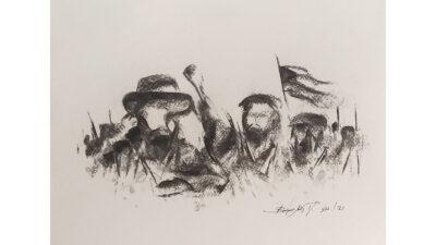Έργο του ζωγράφου Τάκη Βαρελά ως αλληλεγγύη στο λαό της Κούβας